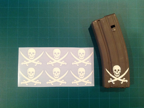 Traditional Calico Jack Sticker 6 Pack