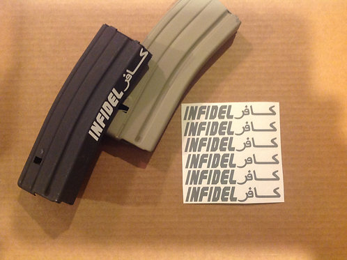INFIDEL AR Mag Side Sticker 6 Pack