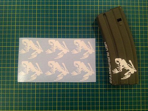 Navy Seal Frog Skeleton Sticker 6 Pack