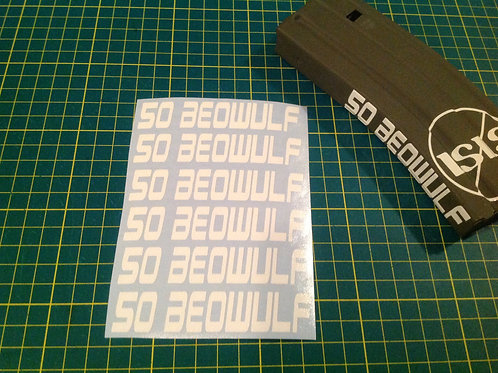 50 Beowulf AR Mag Side Sticker 6 Pack