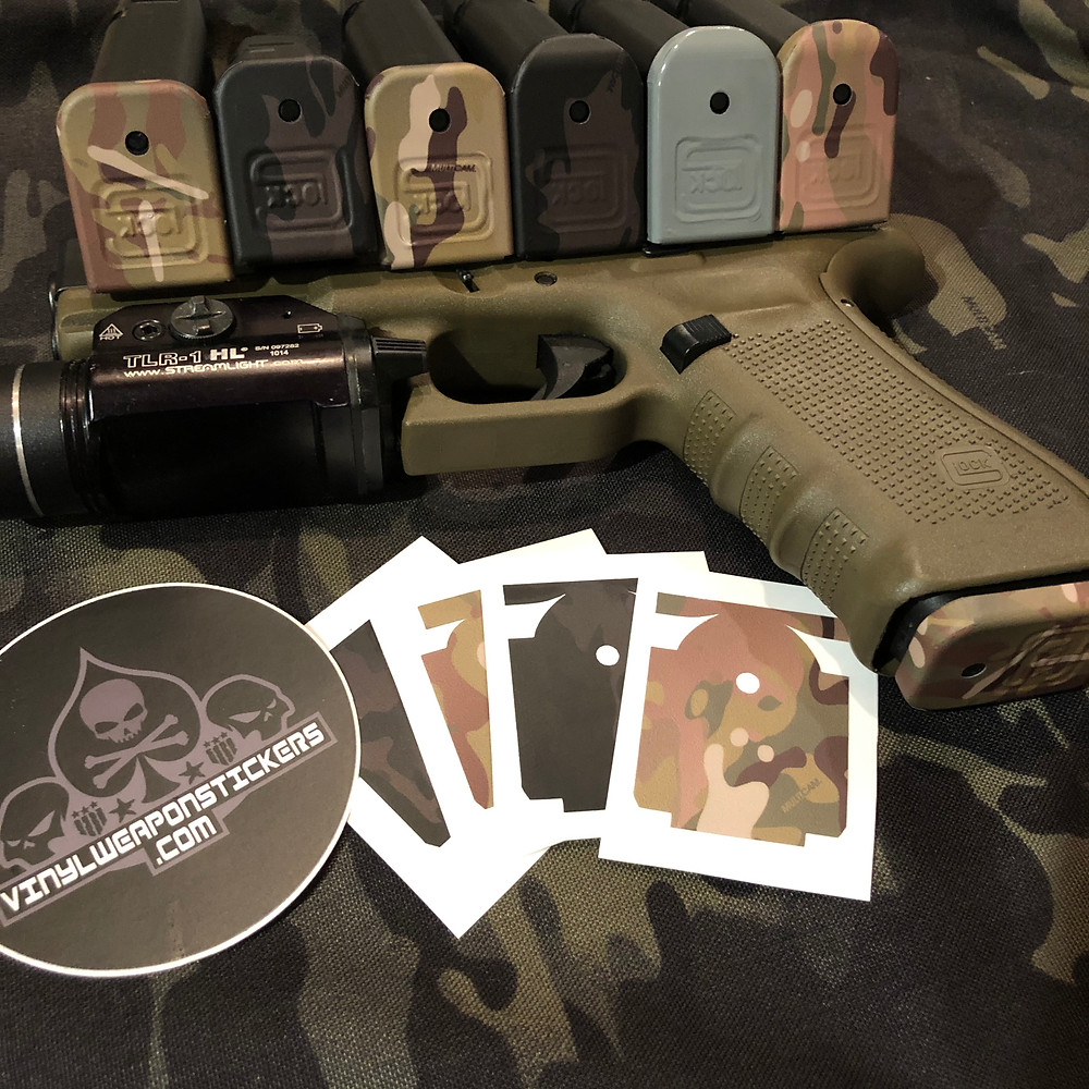New Multicam and Multicam Black Glock Mag Base Plate Covers