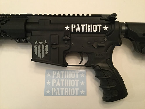 Patriot AR 15 Upper Receiver Sticker 3 Pack