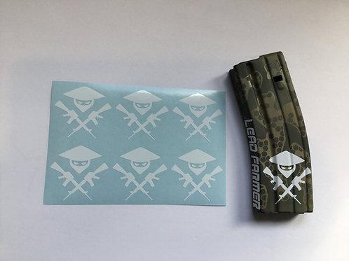 Lead Farmer Symbol AR Mag Sticker 6 Pack