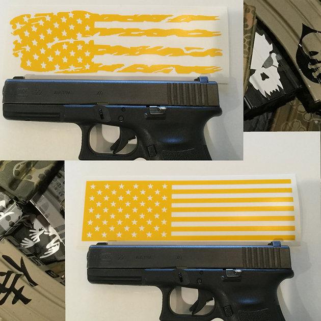 New American Flag Handgun Slide Stencils!