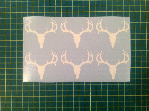 Deer Antler Skull Sticker 6 Pack