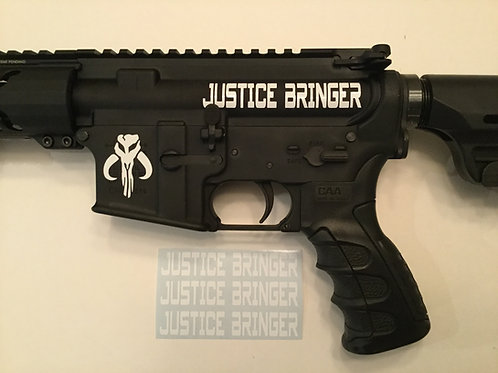 Justice Bringer AR 15 Upper Receiver Sticker 3 Pack