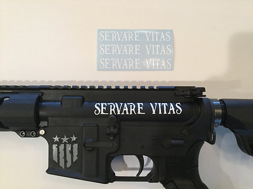 Servare Vitas AR 15 Upper Receiver Sticker 3 Pack