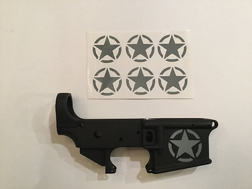 Invasion Star AR 15 Receiver Sticker 6 Pack