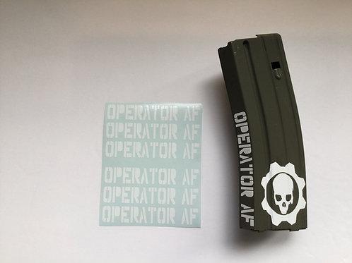 Operator AF AR Mag Side Sticker 6 Pack