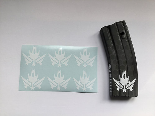 Space Force Symbol AR Mag Sticker 6 Pack