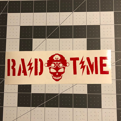RAID TIME and Skull General Use Sticker
