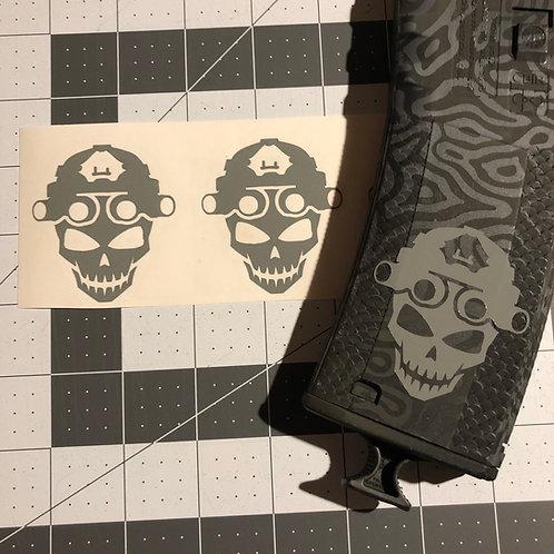 Night Vision Skull Mag Sticker 3 Pack