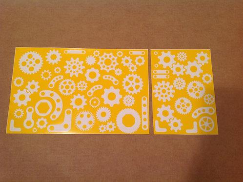 Steampunk Gears Stencil Pack