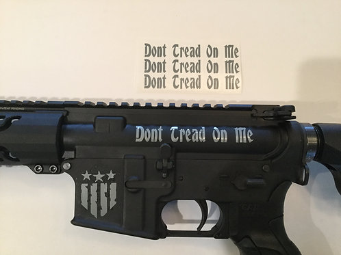 Don't Tread On Me AR 15 Upper Receiver Sticker 3 Pack