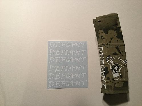 Defiant AR Mag Side Sticker 6 Pack
