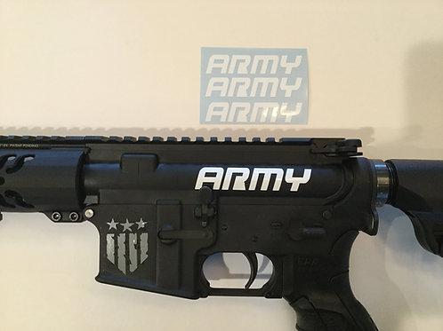 Army AR 15 Upper Receiver Sticker 3 Pack