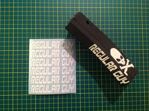 REGULAR GUY AR Mag Side Sticker 6 Pack