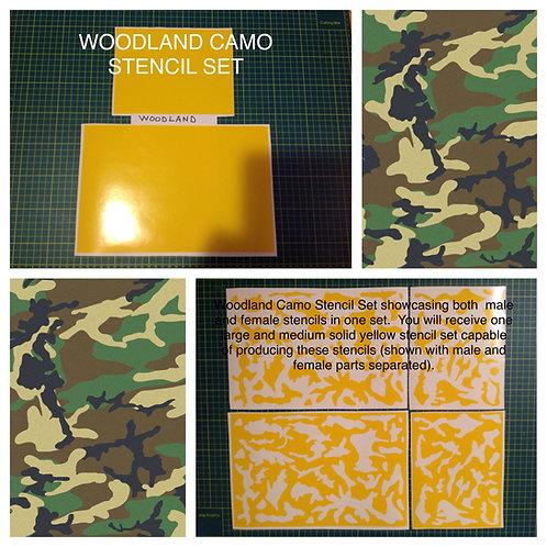 Woodland Camo Stencil Set