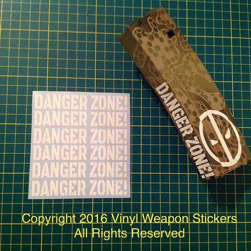 DANGER ZONE! AR Mag Side Sticker 6 Pack