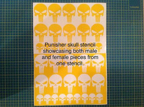 Punisher Skull Stencil Pack