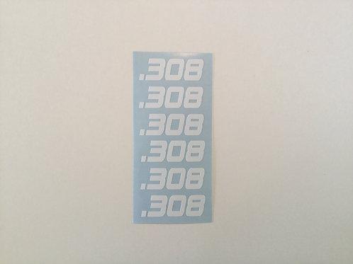 .308 AR Mag Side Sticker 6 Pack