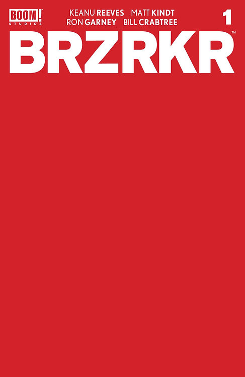 BRZRKR #1 Cover F Red Sketch 1:10 Variant