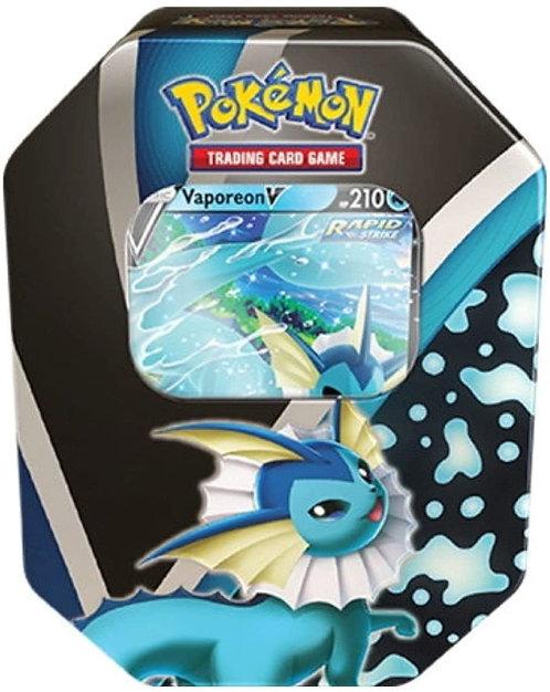 Pokemon TCG: 2021 Fall Eevee Evolutions Vaporeon V Tin