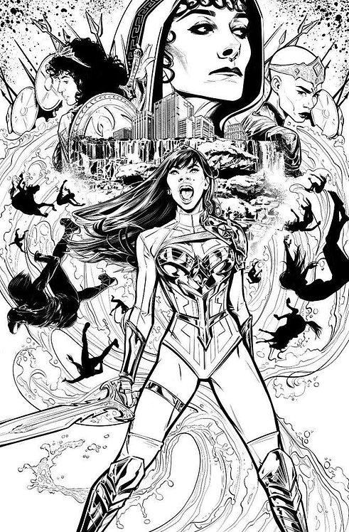 Wonder Girl #1 Jones B&W 1:50 Variant