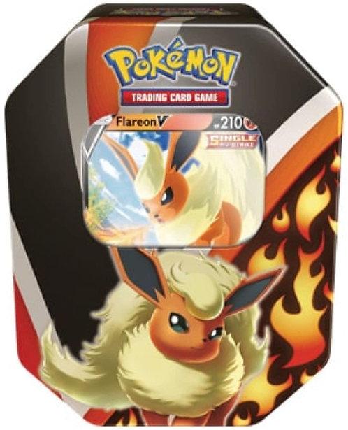 Pokemon TCG: 2021 Fall Eevee Evolutions Flareon V Tin