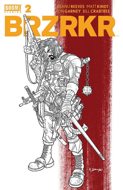 BRZRKR #2 Grampa 1:20 Red Stripe Variant