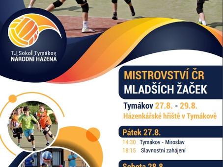 Mistrovství ČR mladších žaček v Tymákově - 27.8.-29.8.