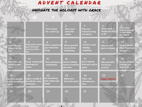 Navigate the Holidays with Grace: Advent Calendar