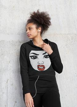 crop-top-hoodie-mockup-of-a-serious-woman-listening-to-music-45222-r-el2
