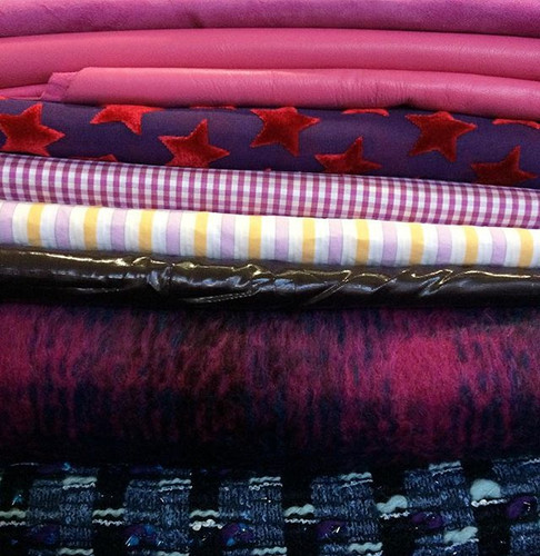 Fabric haul from NYC! Can you tell I have a fave colour__All but one are from _moodfabrics the other is from _nyelegant