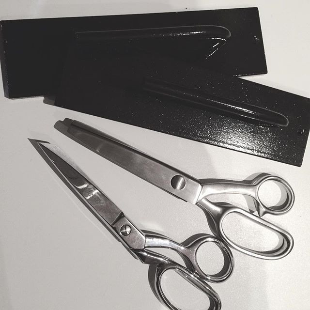 Got some sewing goodies from Santa! Pattern weights, pinking shears and a good pair of fabric scissors!