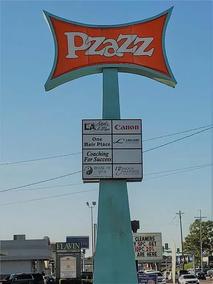 location sign