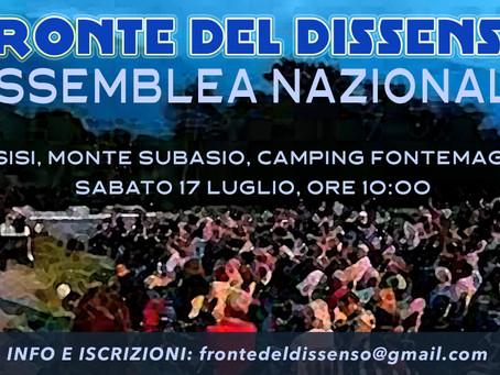 ASSEMBLEA NAZIONALE DEL FRONTE DEL DISSENSO - Assisi 17 luglio