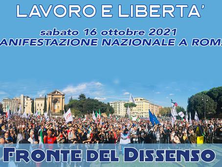 16 OTTOBRE 2021 GRANDE MANIFESTAZIONE NAZIONALE A ROMA