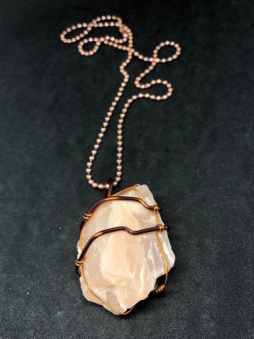 Peach Moonstone On Copper