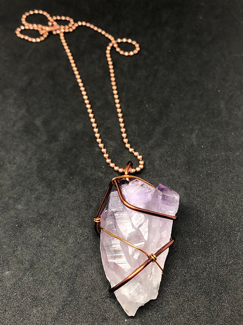Amethyst Point On Copper