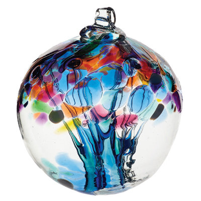 """Caring"" Kitras Art Glass Ball"