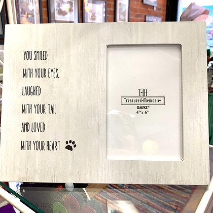 """You Smiled With Your Eyes"" Pet Memorial Frame"
