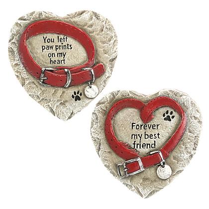 Pet Memorial Heart Stones