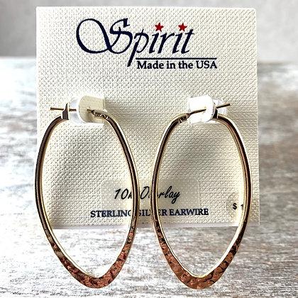"""""""Spirit"""" 10K Gold Overlay Earrings"""