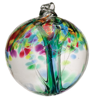 """Family""- 2"" Tree of Enchantment Glass Ball"