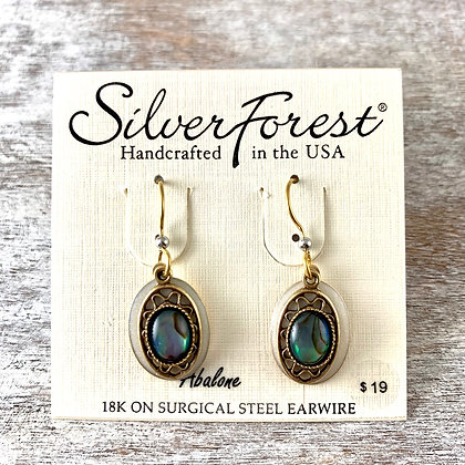 """Silver Forest"" Abalone Earrings"