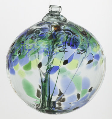 """""""Encouragement""""- 2"""" Tree of Enchantment Glass Ball"""