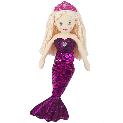 """Shimmer Cove"" Hot Pink Mermaid Doll"