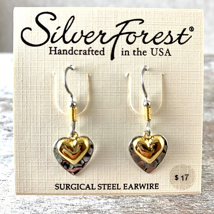 """""""Silver Forest"""" Gold & Silver Earrings"""