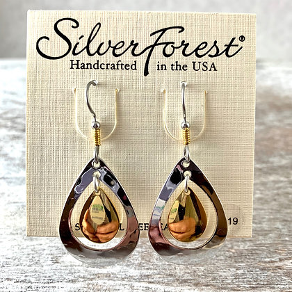 """Silver Forest"" Gold & Silver Earrings"